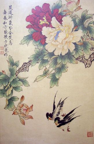 工笔白描玫瑰花图片
